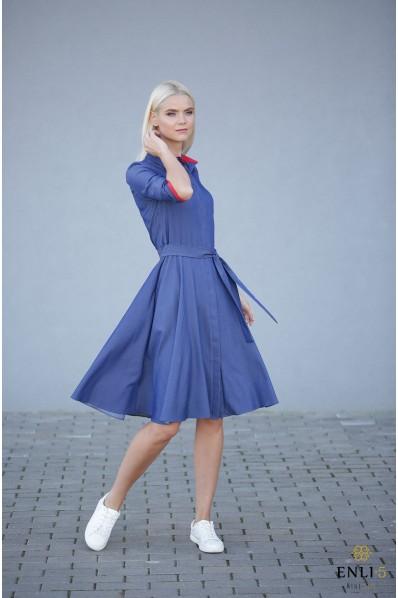 Džinsinė suknelė ESTERA | Kliošinė suknelė