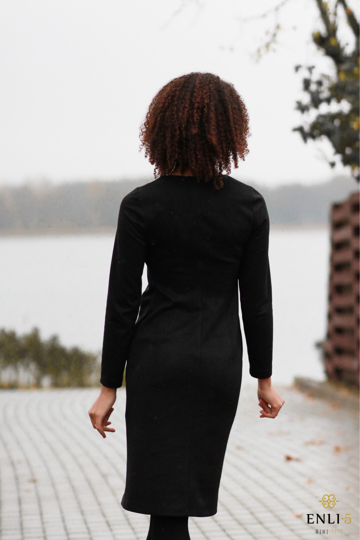 Juodos spalvos suknelė IVONA