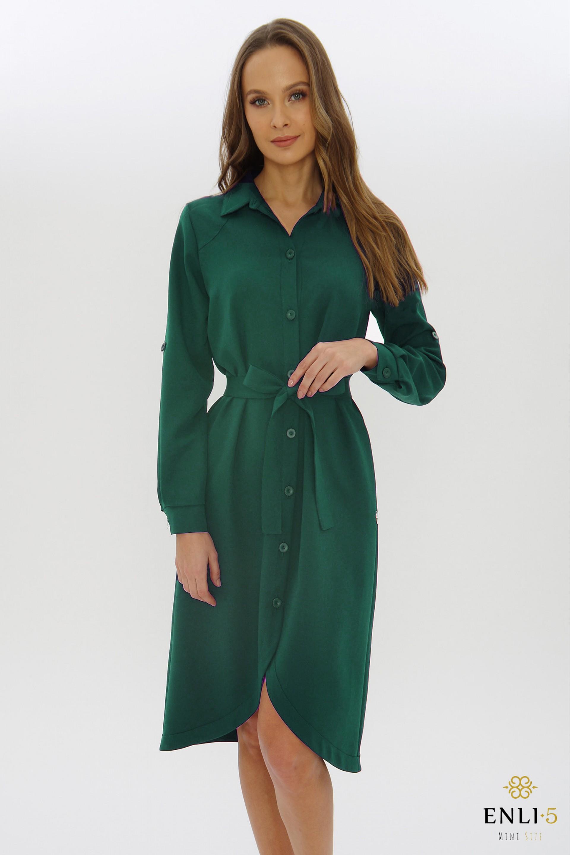 Žalia marškinių tipo suknelė ATĖNĖ
