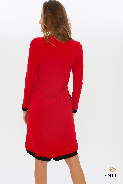 Raudona sportinė suknelė BAGIRA