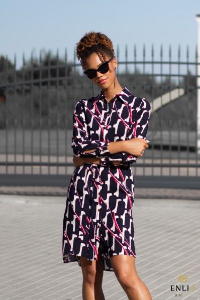 Smėlinė marškinių tipo suknelė BONI
