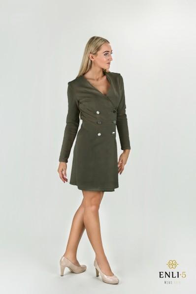Chaki spalvos suknelė | Elegantiška suknelė