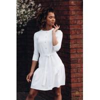 Balta suknelė su raukinuku DEIMA