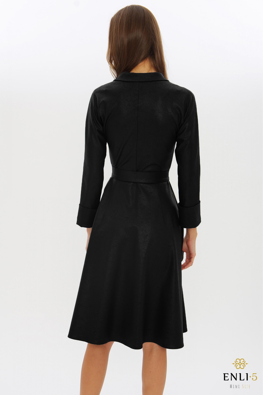 Juoda, švarko tipo suknelė ELADA
