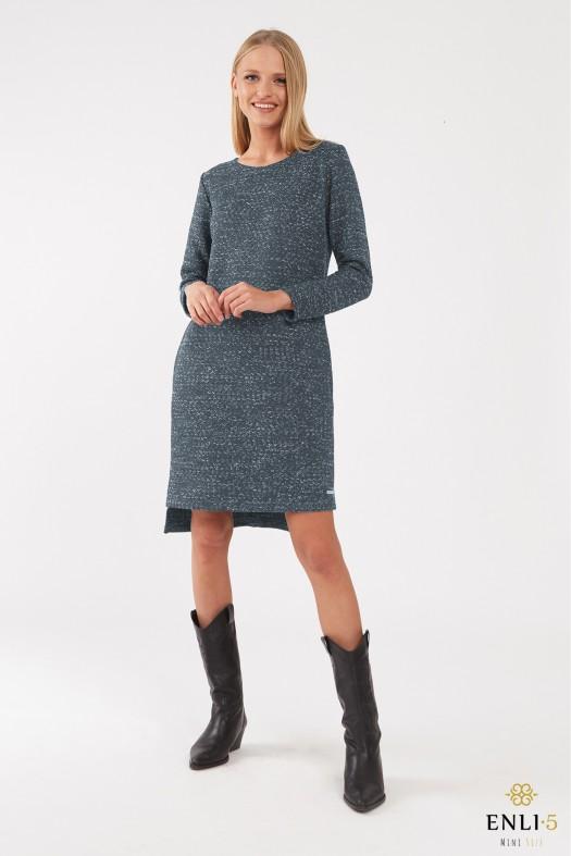 Mėlynai pilka šilta suknelė ERINA