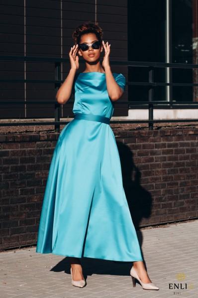 Elektrinės spalvos suknelė FRĖJA