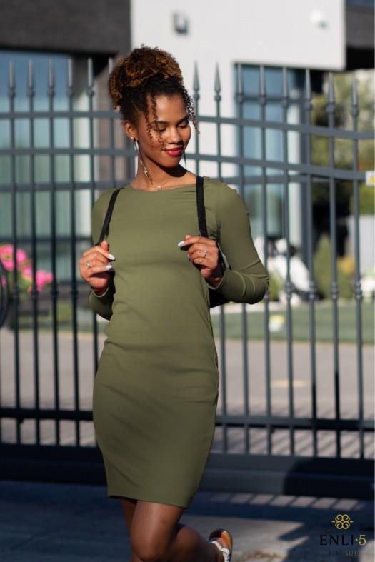 Chaki spalvos suknelė GINA
