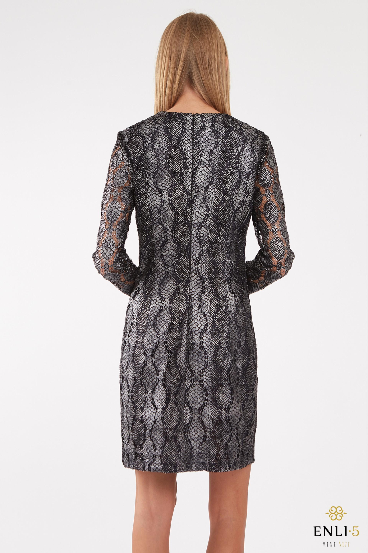 Gyvatės raštų liemenuota suknelė GITA