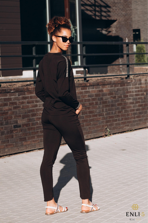 Juodas laisvalaikio kostiumėlis HATORA