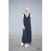 Ilga tamsiai mėlynos spalvos suknelė | Sarafanas HELEN