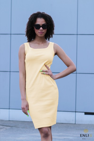Geltona suknelė INTA | Trumpa suknelė