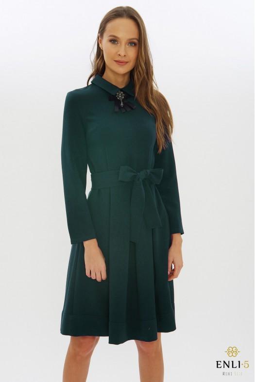 Smaragdinė klasikinė suknelė KAMĖJA