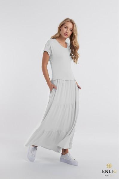 Pilka ilga vasarinė suknelė KAROLINA