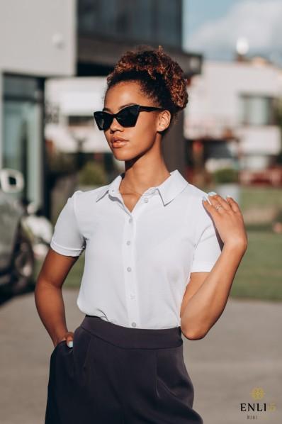 Balti marškinukai KLASIKA | Trumpomis rankovėmis