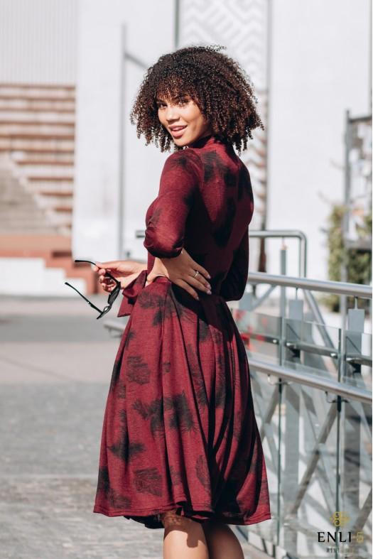 Bordo spalvos suknelė | Ilga suknelė KORNELIJA