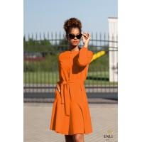 Apelsininė suknelė su volanu LOLA