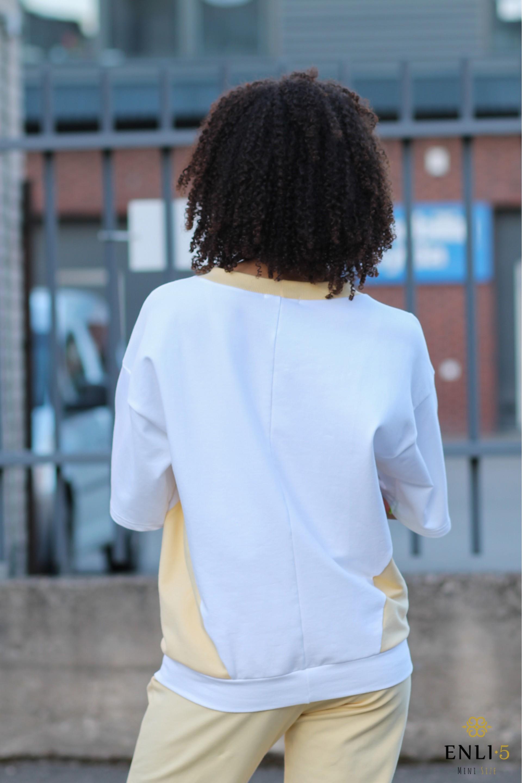 Baltai geltonas džemperis LOTA