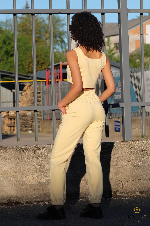 Geltonos spalvos kelnės LOTA