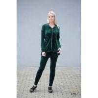 Velūrinis, smaragdo spalvos kostiumas LUXURY