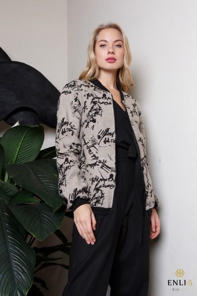Stilingas, margas lininis džemperis