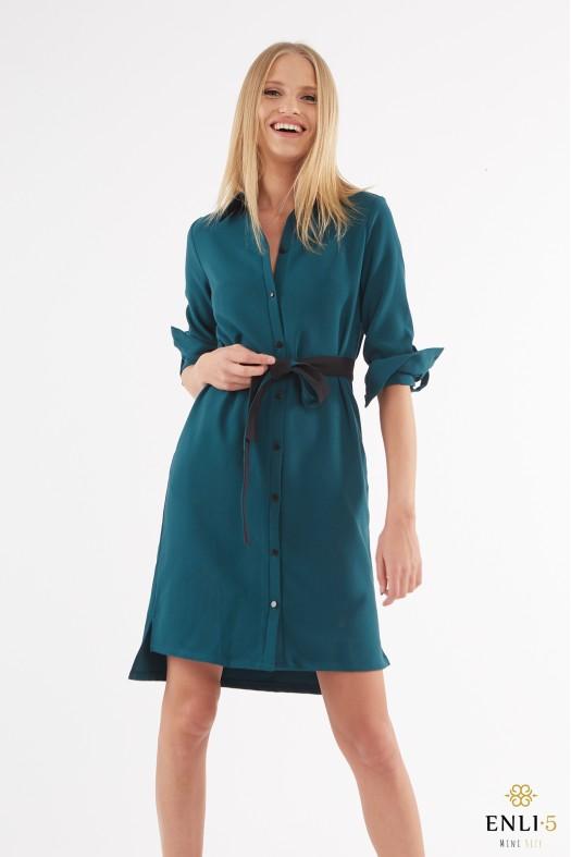 Smaragdinės spalvos suknelė | Žali marškinukai