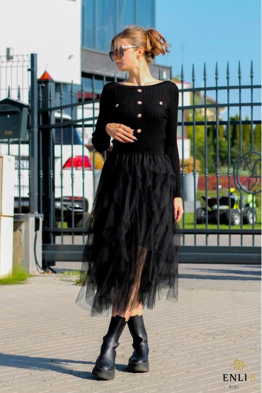 Juodos spalvos suknelė MAY