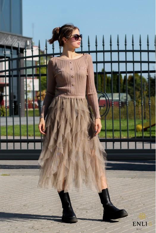 Smėlio spalvos suknelė MAY