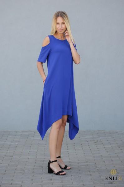 Rugiagėlių spalvos, stilinga, vasariška suknelė MEGAN