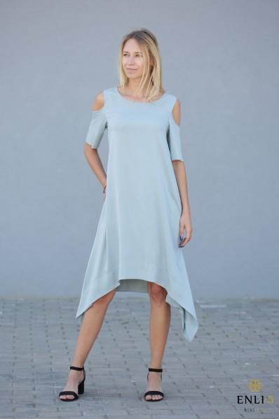 Vandens spalvos suknelė MEGAN   Vasariška suknelė