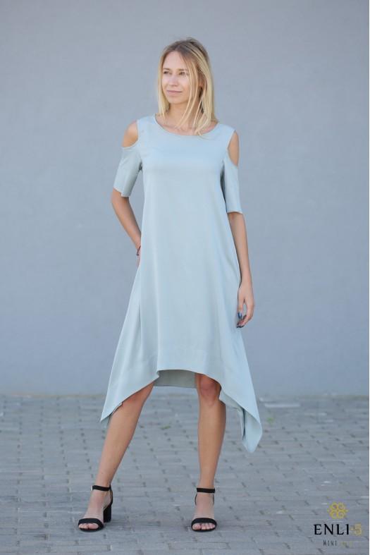 Vandens spalvos suknelė MEGAN | Vasariška suknelė