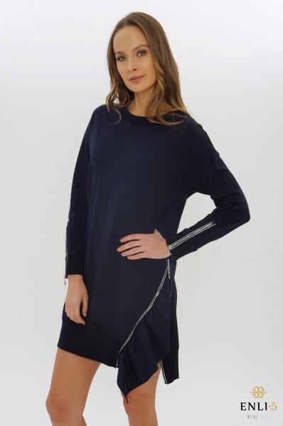 Mėlyna tunika   Suknelė su užtrauktuku EVITA