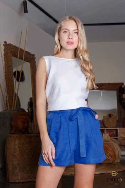 Klasikiniai mėlyni šortai | Moteriški šortai