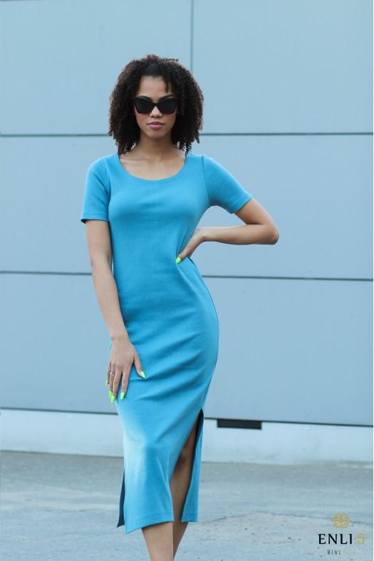 Turkio spalvos ilga suknelė NEDA