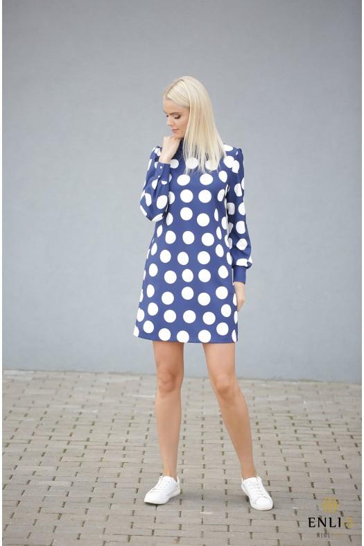 Mėlyna suknelė su burbulais PAULA