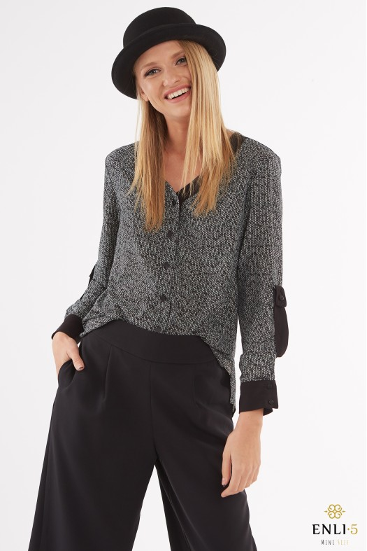 Pilkai juodi marškiniai | Palaidinė PERY
