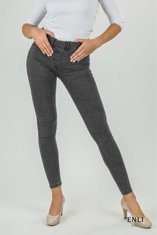Pilkos spalvos džinsai moterims | Džinsinės tamprės