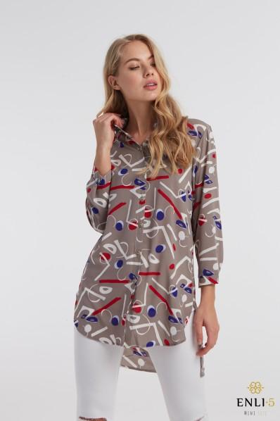 Pilki, stilingi marškiniai RAIDĖS
