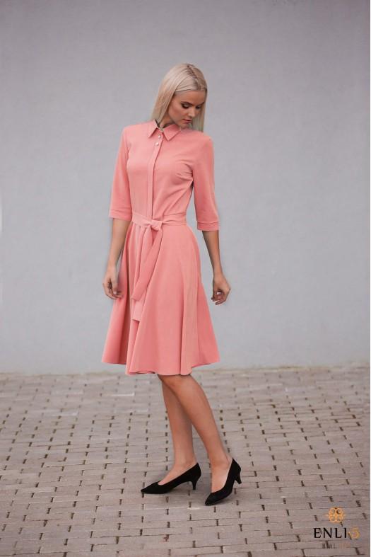Prigesinto persiko spalvos suknelė ESTERA