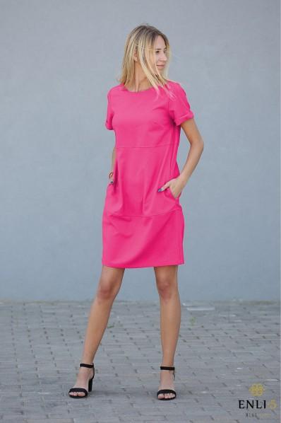Ciklameninė suknelė RACHEL | Universali suknelė