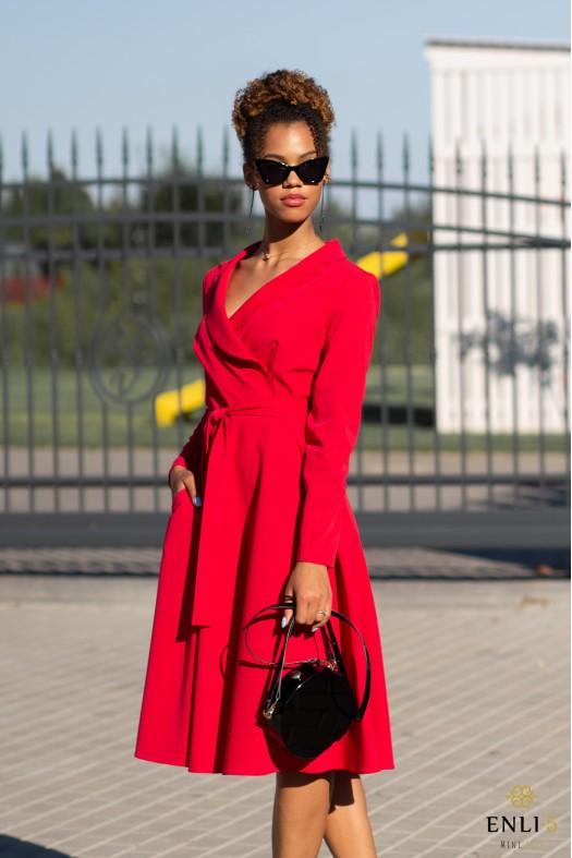 Raudona suknelė MADONA