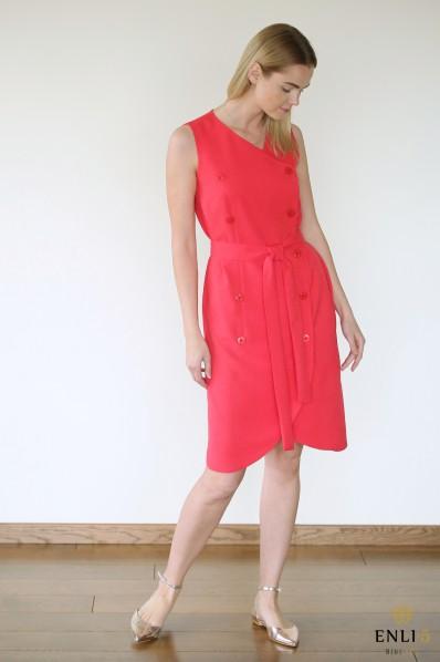 Raudona vasarinė suknelė REDITA