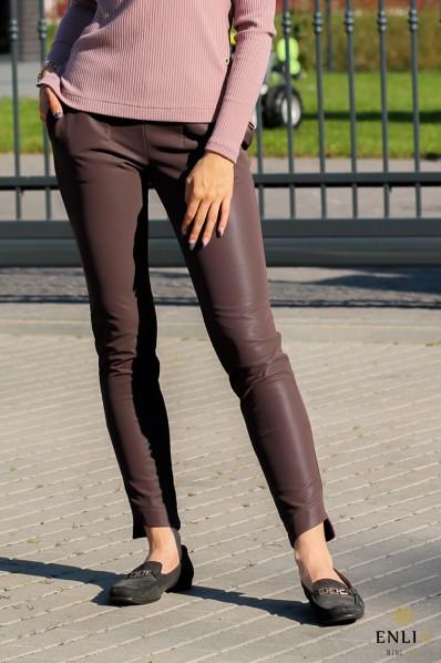 Bordo odinės kelnės RELDA