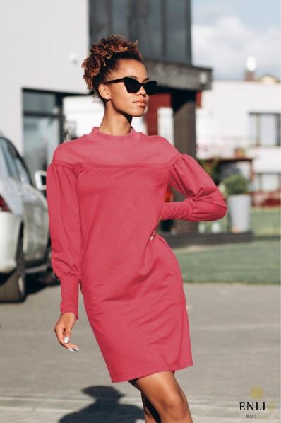 Koralinės spalvos suknelė SHARLI
