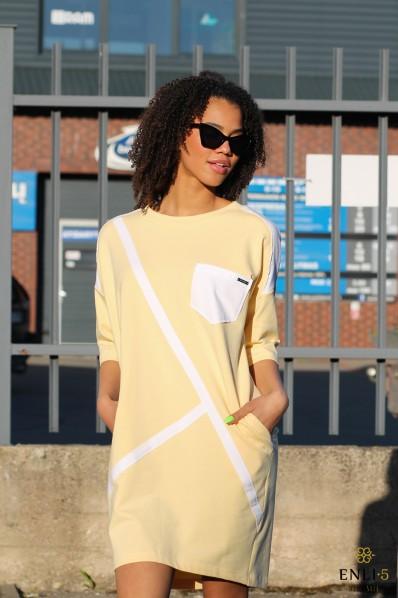 Geltona sportinė suknelė SIMONA