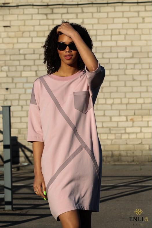 Rožinė sportinė suknelė SIMONA