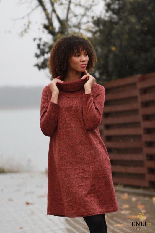 Plytų spalvos šilta suknelė SOFI