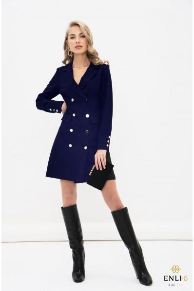 Mėlynas švarkas - suknelė