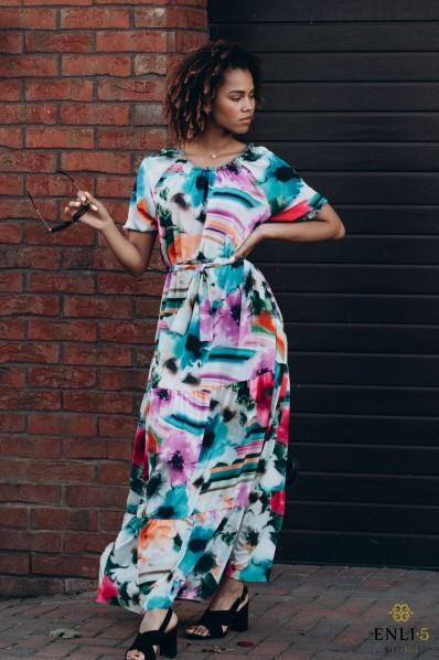 Ilga vasarinė suknelė VAIVORYKŠTĖ