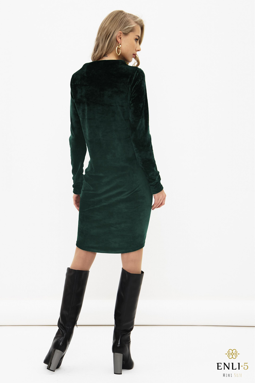 Smaragdinė, ypatingo veliūro suknelė