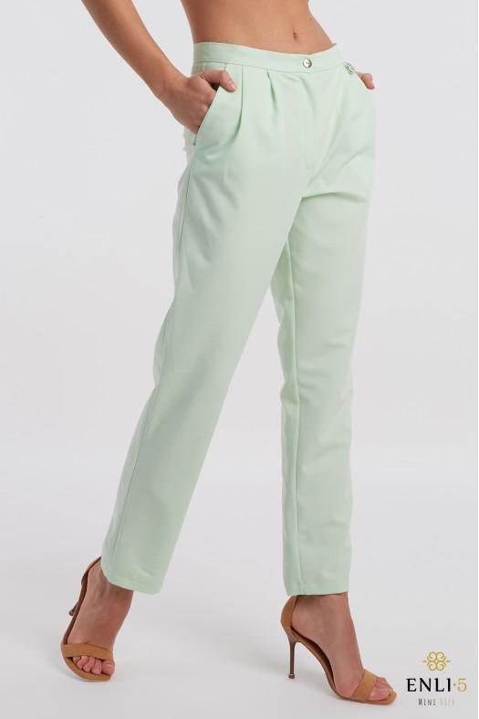 Žalios klasikinės kelnės   Salotinės kelnės